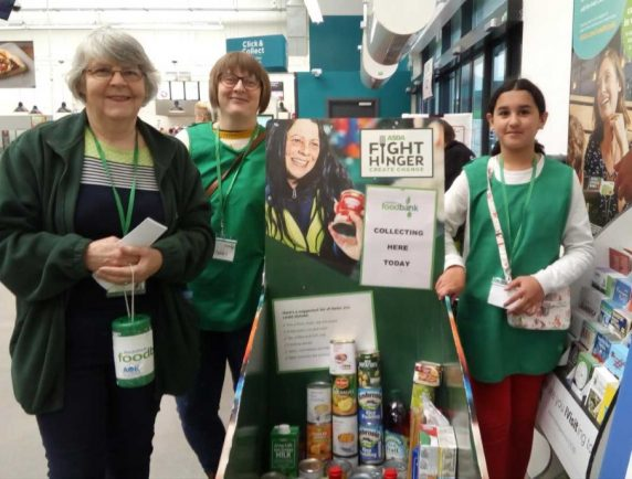 Big hearted shoppers donate 600kg of items to Redditch Food Bank