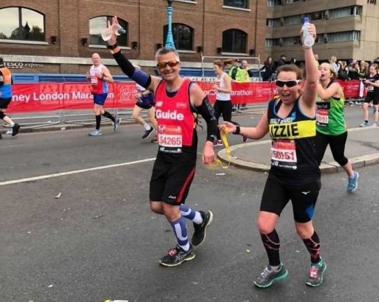 Visually impaired runner completes London Marathon raising almost £6k