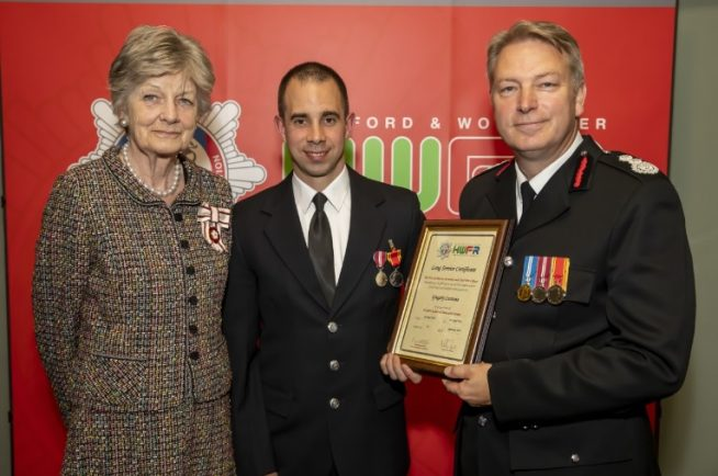 Redditch firefighter honoured at HWFRS awards