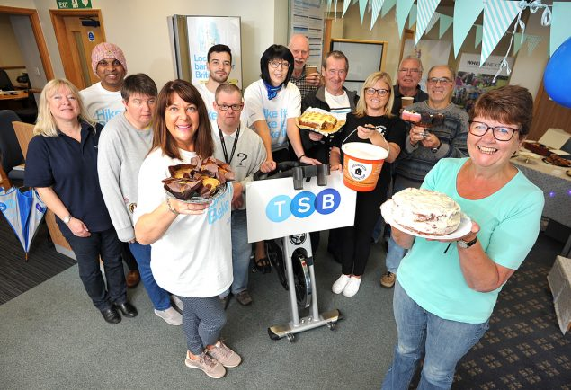 TSB in Redditch raises £250 for local charities by cycling and baking
