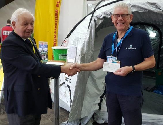 Redditch Rotarians boost ShelterBox aid for victims of Hurricane Dorian