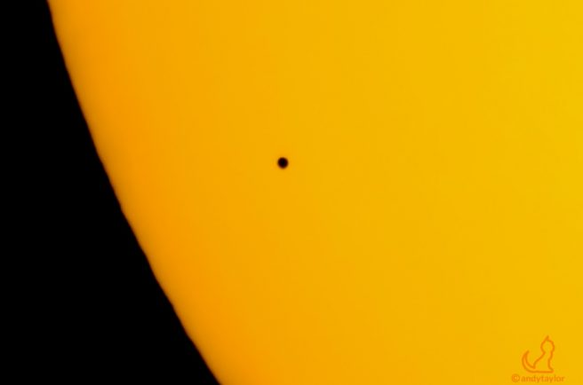 Caught in transit – Mercury captured crossing the sun by Redditch resident