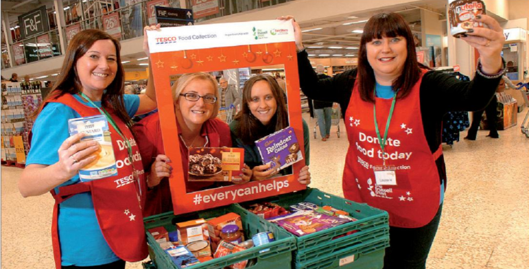 Christmas Food Collection At Tesco Proves A Success Reports