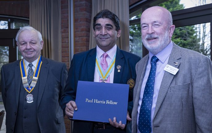 Rotary Club of Redditch members receive highest award possible